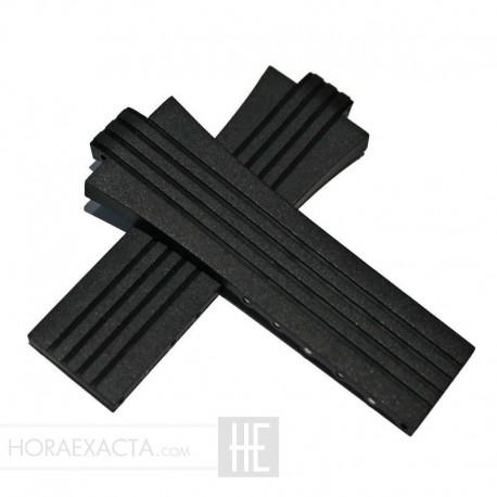 Correa Oris Caucho Negro Aquis 27 mm