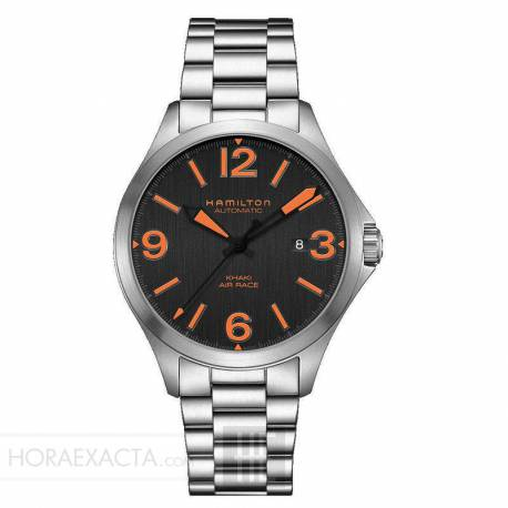 Reloj Hamilton Khaki Aviation Air Race Auto Negro Naranja Armis 42 mm