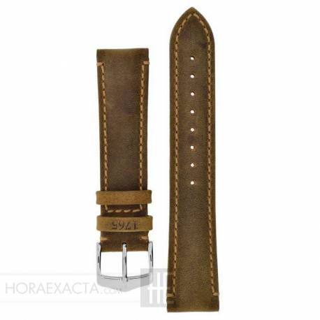 Correa Hirsch Heritage Natural Gold Brown 22 mm