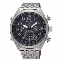 Reloj Seiko Prospex Cielo Solar Radiocontrolado Crono World Time Negro Armis SSG011P1