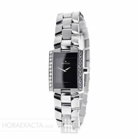 Reloj Movado Eliro Lady Negro Armis Cuarzo Diamantes 22x25 mm.