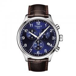 Reloj Tissot Chrono XL Classic Azul Piel Marrón 45 mm.