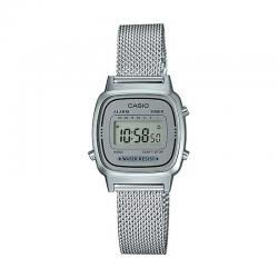 Reloj Casio Collection Digital Pequeño Milanesa Gris LA670WEM-7EF