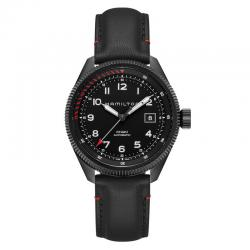 Reloj Hamilton Khaki Aviation Takeoff Auto Air Zermatt PVD Negro Piel 42 mm.