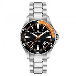 Reloj Hamilton Khaki Navy Scuba Auto Armis Bisel negro / Naranja 40 mm.