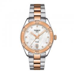 Reloj Tissot PR 100 Lady Sport Chic Cuarzo Acero con PVD Oro Rosa Nacar 36 mm.