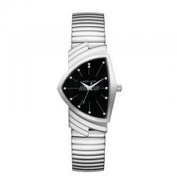 Reloj Hamilton Ventura Cuarzo Acero Negro Armis Elástico