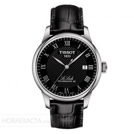 Reloj Tissot le Locle Automático Piel negro.