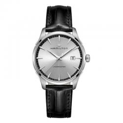 Reloj Hamilton Jazzmaster Gent Cuarzo Plata correa de piel