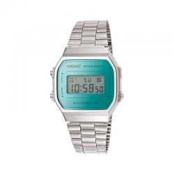 Reloj Casio Collection Digital Armis Acero Mirror Turquesa A168WEM-2EF
