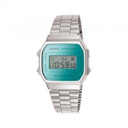 Reloj Casio Collection Digital Armis Acero Mirror Turquesa A168WEM-2EF