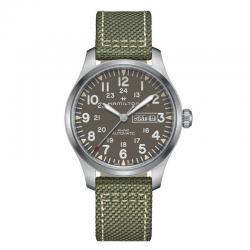 Reloj Hamilton Khaki Field Day Date Auto Verde Lona 42 mm. H70535081