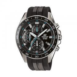 Reloj Casio Edifice Acero Crono Esfera Negra Azul Caucho EFV-550P-1AVUEF