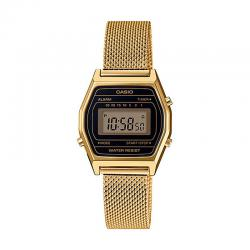 Reloj Casio Collection Digital Pequeño Negro Armis Dorado LA690WEMY-1EF