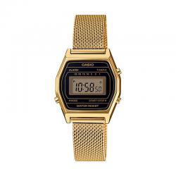 Reloj Casio Collection Digital Pequeño Negro Armis Dorado LA690WEMY-1EF