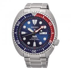 """Reloj Seiko Prospex PADI Diver's """"Tortuga"""" Auto Day Date Azul Bisel Azul/Rojo Armis 44mm. SRPA21K1"""