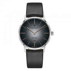 Reloj Hamilton Intra-Matic Auto esfumado Piel Negra