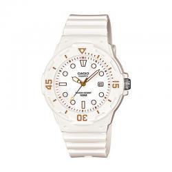 Reloj Casio Collection Analógico Blanco / Dorado Resina LRW-200H-7E2VEF