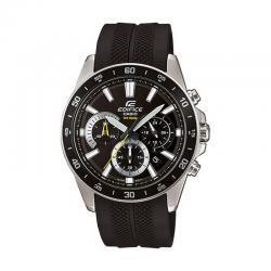 Reloj Casio Edifice Acero Crono Negro Caucho EFV-570P-1AVUEF