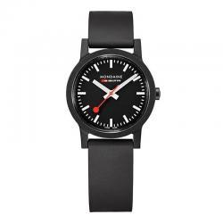 Reloj Mondaine SBB Essence Negro Esfera Negra 32 mm.