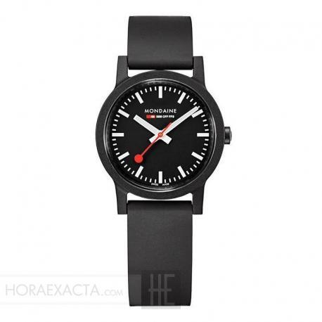 Reloj Mondaine SBB Essence Negro 32 mm.