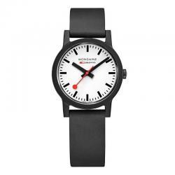 Reloj Mondaine SBB Essence Negro Esfera Blanca 32 mm.