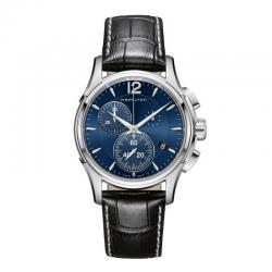 Reloj Hamilton Jazzmaster Chrono Cuarzo Azul Piel Negra