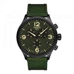 Reloj Tissot Chrono XL PVD Negro Verde Lona Verde 45 mm.