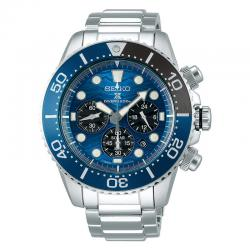 Reloj Seiko Prospex Solar Chrono Azul Armis Special Edition Save The Ocean Shark 2019 43.50 mm