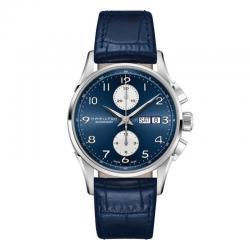 Reloj Hamilton Maestro Auto Chrono 41 mm Azul piel azul.