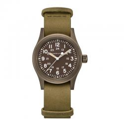 Reloj Hamilton Khaki Field Mechanical PVD color tierra 38 mm