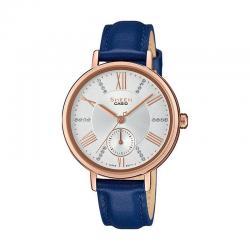 Reloj Casio Sheen PVD Correa azul Swarovski 34 mm. SHE-3066PGL-7AUEF