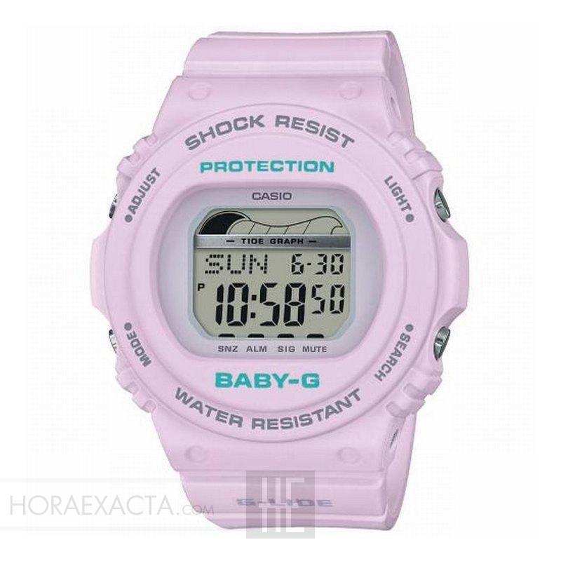 pasaporte seguro Gracias  Reloj Casio Baby-G Beach Styled Digital Rosa Pastel BLX-570-6ER