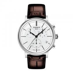 Reloj Tissot Carson Premium CHRONOGRAPH Blanco Piel Marrón T122.417.16.011.00