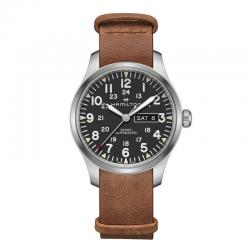 Reloj Hamilton Khaki Field Day Date Auto Negro Nato piel 42 mm. H70535531