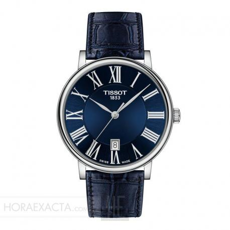 Reloj Tissot Carson Premium Azul correa de oiel.