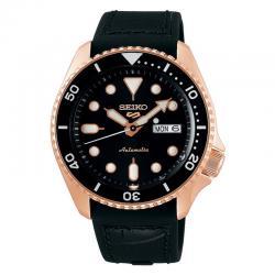 Reloj Seiko 5 Neo Sport Automático PVD Oro Rosa Piel Day Date 42,5 mm. SRPD76K1