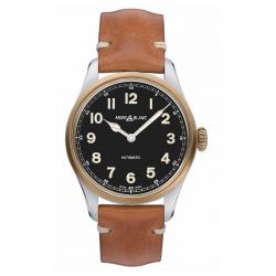 Reloj Montblanc Colección 1858 Automático 40 mm Negro Piel Marrón. 117833