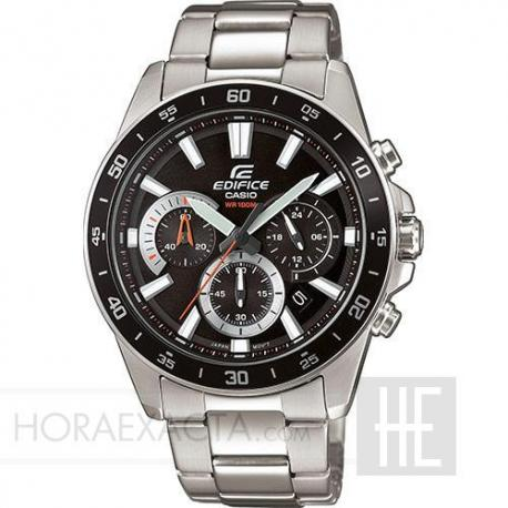 Reloj Casio Edifice Acero Crono Negro Armis EFV-570D-1AVUEF