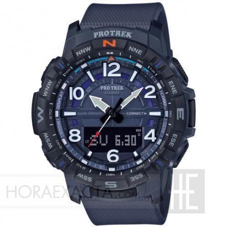 Reloj Casio Pro Trek Analógico Digital Azul Bluetooth® PRT-B50-2ER