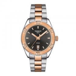 Reloj Tissot PR 100 Lady Sport Chic Cuarzo Acero con PVD Oro Rosa Negro 36 mm.