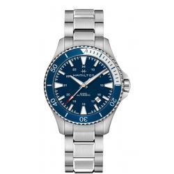 Reloj Hamilton Khaki Navy Scuba Auto Azul Armis Bisel Azul/ Gris 41 mm.