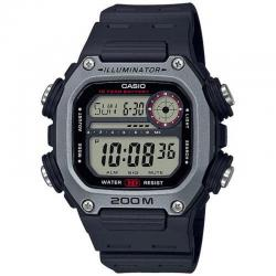Reloj Casio Collection Digital Negro Gris Resina Negra DW-291H-1AVEF