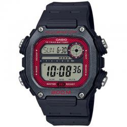 Reloj Casio Collection Digital Negro Rojo Resina Negra DW-291H-1BVEF