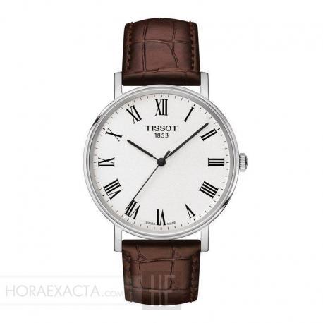 Reloj Tissot Everytime Cuarzo piel marrón
