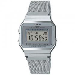 Reloj Casio Collection Digital Milanesa Acero Grís A700WEM-7AEF