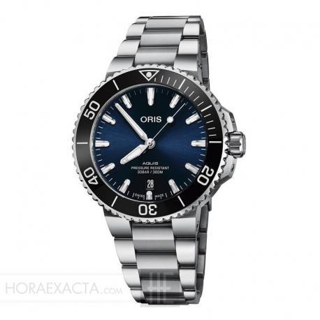 Reloj Oris Aquis Date Armis Azul 41,5 mm
