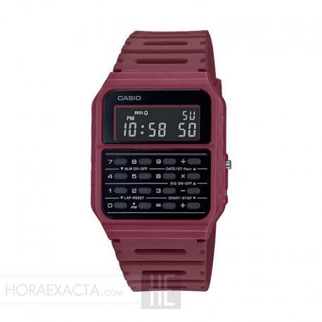 Reloj Casio Collection Vintage EDGY Calculadora Granate CA-53WF-4BEF