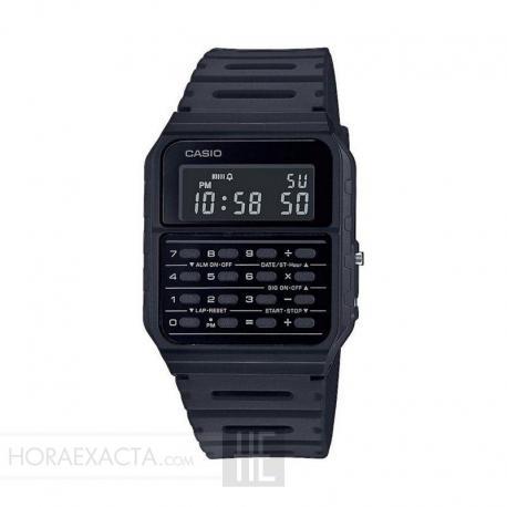 Reloj Casio Collection Vintage EDGY Calculadora Negro CA-53WF-1BEF