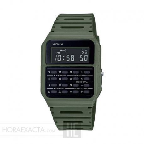 Reloj Casio Collection Vintage EDGY Calculadora Verde CA-53WF-3BEF